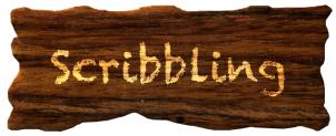 GIMPで木に落書きしたようなロゴ作成